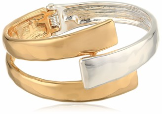 Robert Lee Morris Soho Women's Geometric Bypass Hinged Bangle Bracelet