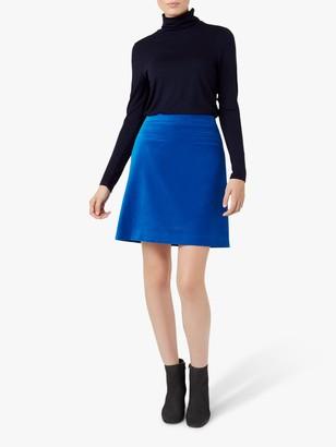 Hobbs Vanetta Cotton Skirt, Agean Blue