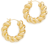 Soave Oro Torchon Hoop Earrings