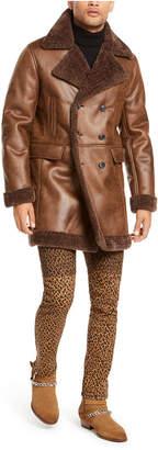 INC International Concepts I.n.c. Men Faux Suede Faux Fur Jacket