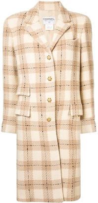 Chanel Pre Owned Long-Sleeve Coat Jacket