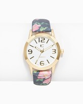 Charming charlie Lily Denim Floral Watch