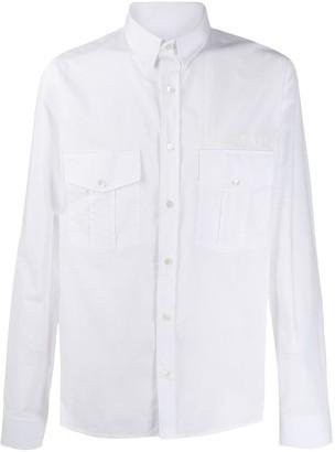 Balmain Logo Print Long-Sleeve Shirt