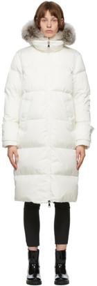 Moncler White Down Lo Kellerfur Coat