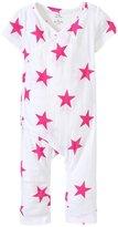 Aden Anais aden anais Kimono Romper (Baby) - Medium Pink Star - 0-3 Months