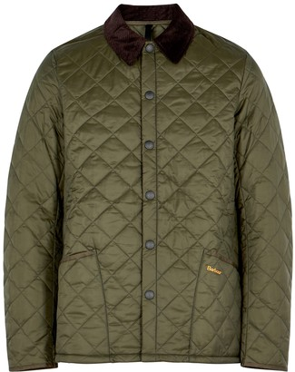 Barbour Liddesdale Green Quilted Shell Jacket