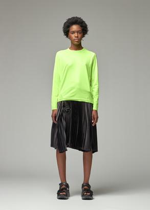Junya Watanabe Women's Mesh Neon Long Sleeve T-Shirt in Neon Yellow Size 2