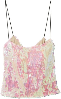 Sandy Liang Sequined Crepe Camisole
