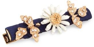 David Charles Embellished Floral & Crystal Hair Clip