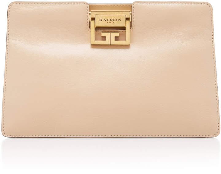 Givenchy GV Textured-Leather Clutch
