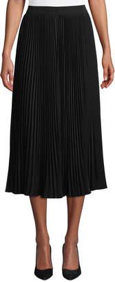 Co Allover Plisse Pleated Midi Skirt