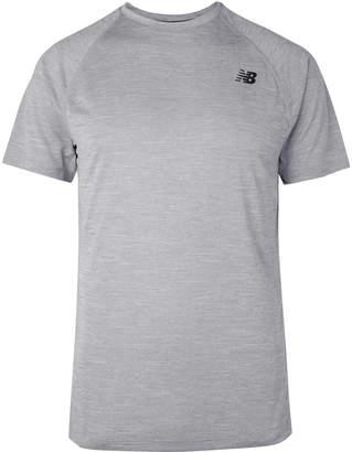 New Balance Tenacity Melange Stretch-Jersey T-Shirt
