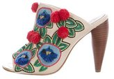 Tory Burch Ellis Floral Embroidered Mules