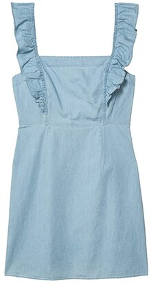 BB Dakota Dress with Flutter Straps (Chambray) Women's Dress
