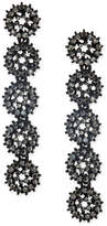 INC International Concepts Jet-Tone Pavé Circle Linear Drop Earrings, Created for Macy's