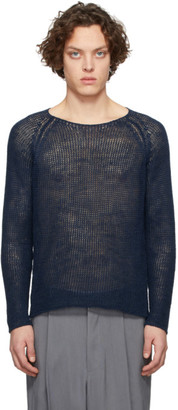 Giorgio Armani Navy Hemp Sweater