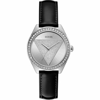 GUESS Womens Analogue Quartz Watch with Leather Strap W0884L3