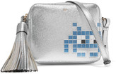 Anya Hindmarch Space Invaders Metallic Textured-leather Shoulder Bag - Silver
