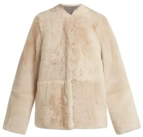 Raey 1970s Shearling Coat - Womens - Grey