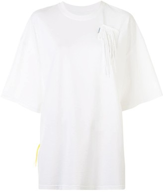 PortsPURE crochet-pocket oversized T-shirt