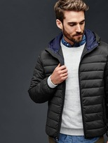 Gap ColdControl Lite stretch hooded puffer jacket