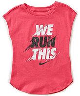 Nike Little Girls 2T-6X We Run This Short-Sleeve Tee