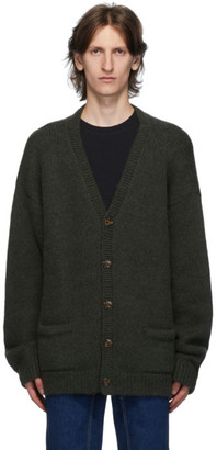 Vetements Green Five Button Cardigan