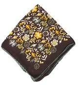 Tom Ford Men's Brown Floral Silk Pocket Square.