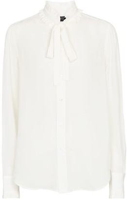 Polo Ralph Lauren Tie-neck silk shirt