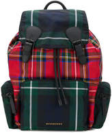 Burberry designer check backpack