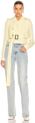 Rick Owens Mini Trench Jacket in Cornsilk | FWRD
