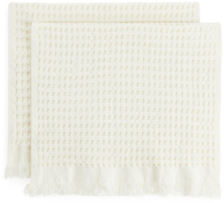 Arket Fringed Waffle Guest Towels, Set of 2