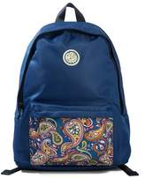 Nylon Backpack With Paisley Pocket