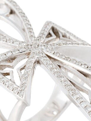 Loree Rodkin Diamond Maltese Cross Ring