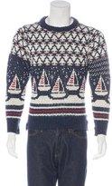 Thom Browne Wool Sailboat Intarsia Sweater w/ Tags