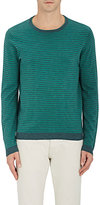 Barneys New York MEN'S STRIPED COTTON-LINEN SWEATER