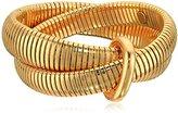 Diane von Furstenberg Gemma Interlocked Stacked Gold Bracelet