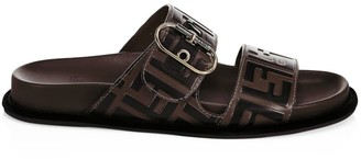 Fendi Leather Flat Slides