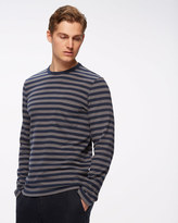 Heavy Cotton Striped Long Sleeve T-shirt