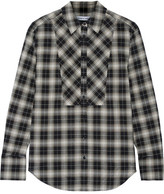 Elizabeth and James Rowan Plaid Woven Shirt - Black