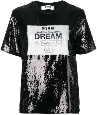 MSGM sequin Dream logo T-shirt
