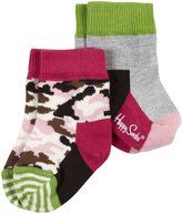 Happy Socks 2-pk Camo Anklet - Grey-Medium