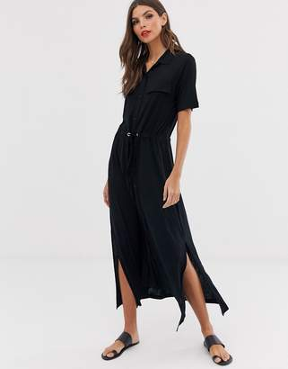 French Connection maxi shirt dress-Black