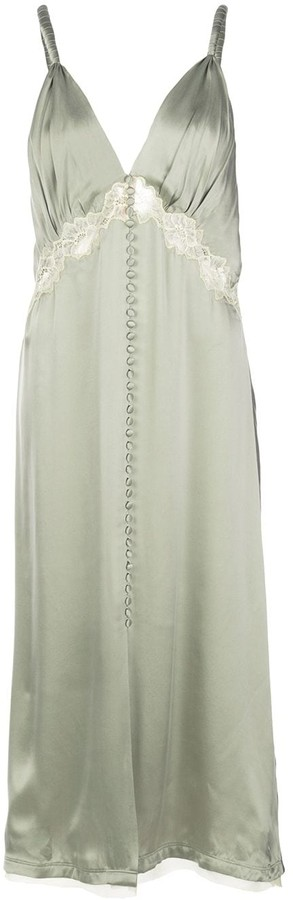 Jonathan Simkhai V-Neck Silk Dress