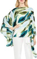 Vince Camuto Breezy Leaves Poncho Top