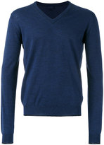 Lanvin three material V-neck jumper