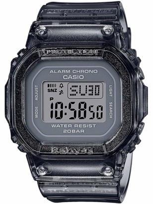 Casio Women's Digital Quartz Watch with Plastic Strap BGD-560S-8ER