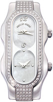Philip Stein Teslar Mini Signature Double Diamond Watch Head, Mother-of-Pearl Dial, Size 4