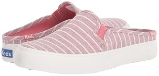Keds Double Decker Mule Chambray Stripe (Light Gray) Women's Shoes