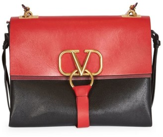 Valentino Medium VRing Leather Shoulder Bag